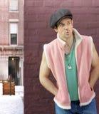 Fun fashion portrait of male Royalty Free Stock Photos
