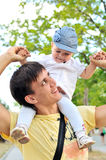 Fun with father Royalty Free Stock Images