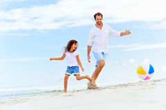 Fun father daughter Stock Photography