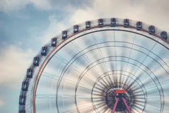 Fun on the ferries wheel. Imagine to ride on a ferries wheel that is turning faster and faster Royalty Free Stock Images