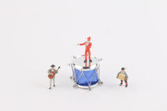 The fun of figure in miniature world royalty free stock photo