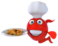 Fun fish and chips Stock Image