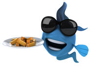 Fun fish and chips Stock Photos