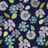A Fun Floral Repeat Print Pattern  in Vector royalty free illustration