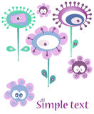 Fun flower background. Fun background with retro flowers Royalty Free Stock Photography