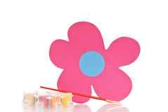 Fun Flower Painting Stock Photo