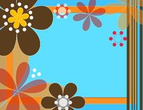 Fun flowers. Shapes and flowers illustration Royalty Free Stock Photos