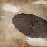 Fun flying umbrella Royalty Free Stock Image