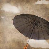 Fun flying umbrella Royalty Free Stock Image