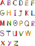 Fun Font. Colorful and fun alphabet set. Eps10 Stock Image