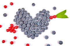Fun food. Heart and arrow made from fruits Stock Image