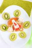 Fun food for kids Stock Image