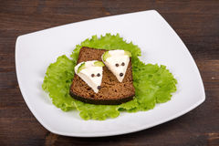 Fun food for kids - mouse with cheese Royalty Free Stock Photo