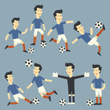 Fun football player Stock Image