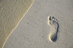 Fun footstep Stock Photography