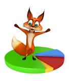 Fun Fox cartoon character Royalty Free Stock Images