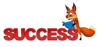 Fun Fox cartoon character Stock Photography