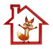 Fun Fox cartoon character Royalty Free Stock Photography
