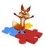 Fun Fox cartoon character Stock Photo