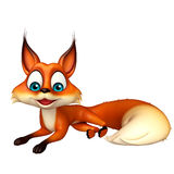 Fun Fox funny cartoon character Stock Photos