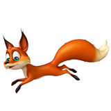 Fun Fox funny cartoon character Royalty Free Stock Photography