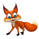Fun Fox funny cartoon character Stock Photo