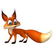 Fun Fox funny cartoon character Stock Photos
