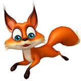 Fun Fox funny cartoon character Stock Images