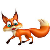 Fun Fox funny cartoon character Royalty Free Stock Photo