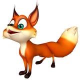 Fun Fox funny cartoon character Royalty Free Stock Images