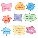 Fun frames with copy space. Speech bubbles  set Royalty Free Stock Photography