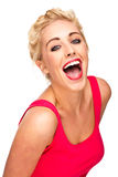 Fun and Free Woman Laughing and Smiling Royalty Free Stock Image