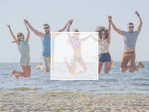 Fun with friends. Stock Images