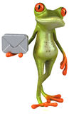 Fun frog vector illustration
