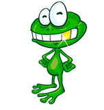 Fun frog cartoon with gold tooth Stock Photo