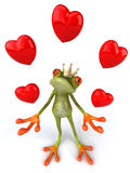 Fun frog with love Stock Image