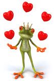 Fun frog with love Stock Images