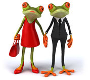 Fun frogs Royalty Free Stock Photo