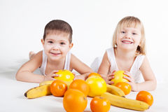 Fun fruits Stock Images
