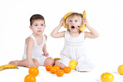 Fun fruits Royalty Free Stock Photography