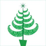 Fun and Funky stylized Chriatmas tree Stock Images