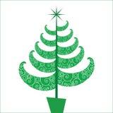 Fun and Funky stylized Chriatmas tree stock illustration