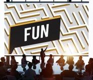 Fun Funny Happiness Enjoyment Joyful Pleasure Concept Stock Photos
