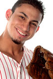 Fun game for all. Baseball puts a smile on everyone's face Stock Photos