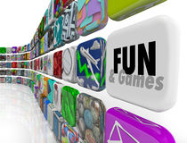 Fun and Games App Application Store Market Download Software Royalty Free Stock Photo