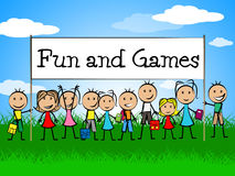 Fun And Games Indicates Gamer Recreational And Recreation Royalty Free Stock Images