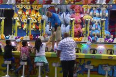 Fun and Games at the  Los Angeles County Fair. Royalty Free Stock Image
