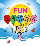 Fun Games Means Play Time And Cheerful Royalty Free Stock Photography