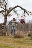 Fun in garden Royalty Free Stock Photos