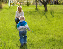 Fun in the garden. Royalty Free Stock Photography
